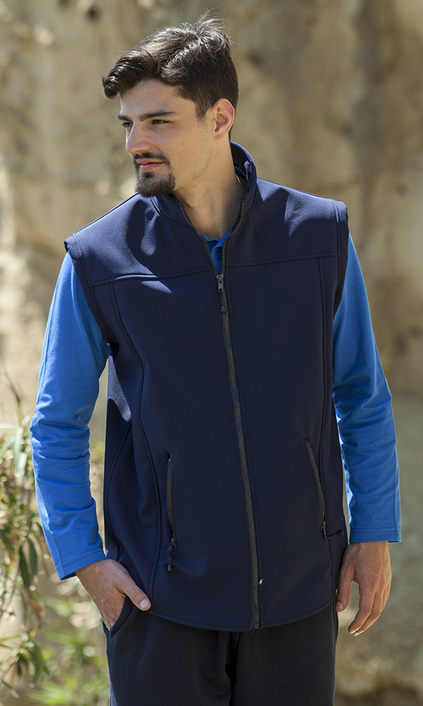 Gilet uomo in soft shell