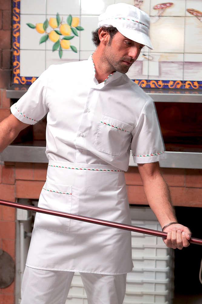 Camicia pizzaiolo con Tricolore 5515ed6f6876