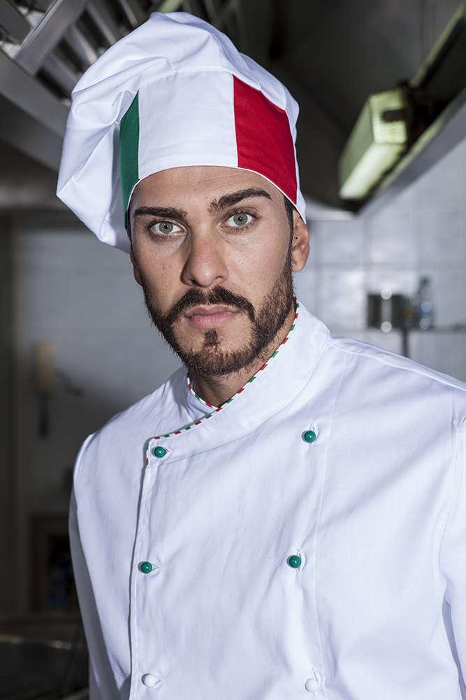 Cappello con tricolore da cuoco 43cfd6e24688