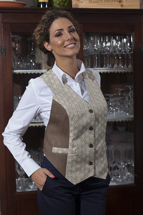 Grembiule a gilet antimacchia donna