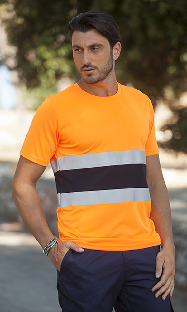 Unisex t-shirt high visibility