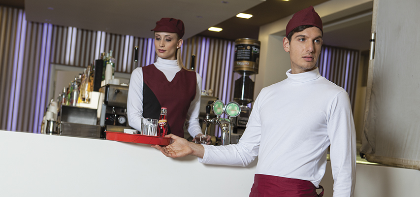 2846bb2b846 CAFETERIA CLOTHING BAR WAITER BARTENDER SOMMELIER BARMAN UNIFORMS  ACCESSORIES BREATHABLE CLOTHES