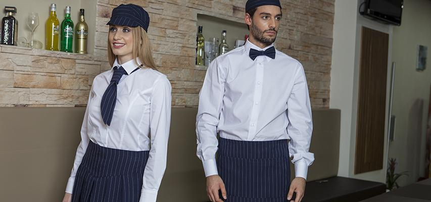 GESSATO abbigliamento elegante caffetteria camerieri barman bar divise  rigato tessuto righe 08c556478a37